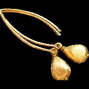 REDUCED Gold Vermeil Long Earrings