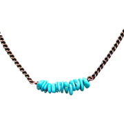 REDUCED Turquoise Sterling Silver Necklace