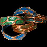 Patina Copper Cuff Bracelet