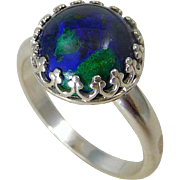 Azurite Sterling Silver Ring Size 7