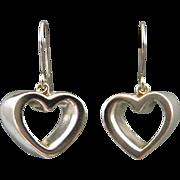 Vintage Tiffany & Co Open Heart Dangle Earrings