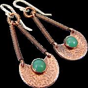 Copper Chalcedony Earrings