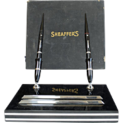 VINTAGE Sheaffers DRY-PROOF Desk Fountain Pen Set w/Box