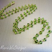 """SOLD 36"""" Exceptional Peridot-August Birthstone-14k Gold Fill-Long Layering Necklace"""