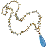 Multi Beryl-8ct Aquamarine Pendant-Morganite-Heliodore-March Birthstone-Gold Fill Pendant Frin