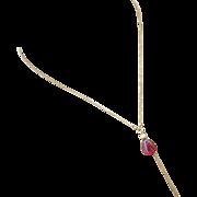 14k 4.5ct Natural Rubellite Pink Tourmaline Pendant-Solid 14k Gold Alluring Feminine Elegant Necklace