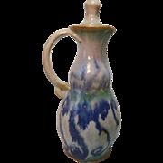 Hand Made Stoneware Cruet with Stopper Blue & White