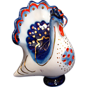Rooster saltcellar porcelain figurine LFZ LOMONOSOV USSR Russian Soviet