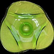 Green Viking Epic Drape Glass Bowl -- Nice large size!