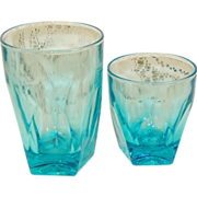 "6 Hazel Atlas Capri Gothic 3"" glass Tumblers Juice Glasses"