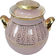 Hall China Zeisel Gold Label Pink Basketweave Cookie Jar