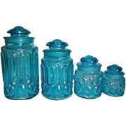 Full Set LE Smith Moon & Stars Canisters / Jars in Colonial Blue