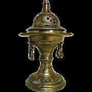 Old Incense burner / Censer Marked N;1605/113. A.M. Depose Made In France