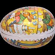 Vintage Paper Mache' Germany Easter Egg Candy Holder