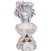 Cybis Corday signed Ceramic Woman Bust / Figurine Dresden Lace1940s Rococo