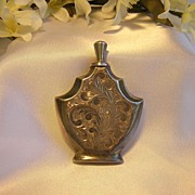 SALE PENDING Beautiful Sterling Etched Perfume Bottle w/Applicator