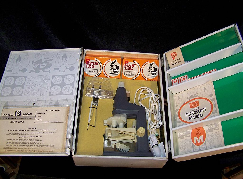Vintage 1965 Sears Junior Microscope Lab