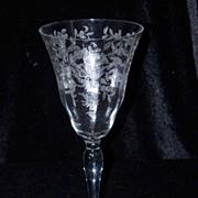Vintage Morgantown Lace Bouquet #7668- Water Glasses