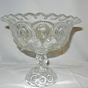Vintage L G Wright  Moon & Stars Compote