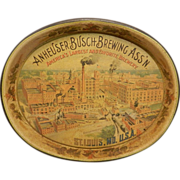 Vintage Anheuser Busch Brewing Company Serving Tray
