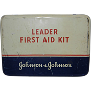 Vintage Johnson & Johnson Leader First Aid Kit