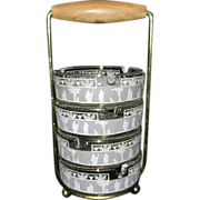 Vintage Jeanette Glass Ashtray Set