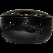 Vintage Black Amethyst Jewelry Box