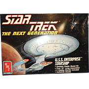 Vintage AMT Star Trek Next Generation U.S.S. Enterprise Starship Model Kit