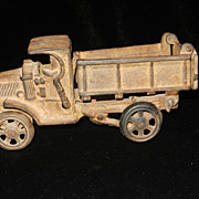 SOLD Vintage Cast Iron Dump Truck - Red Tag Sale Item