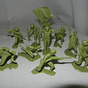 vintage Louis Marx Japanese Toy Soldiers