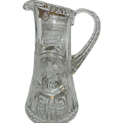 Vintage Crystal Clear Leaded Crystal Pitcher from Poland