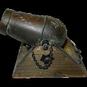 Vintage Replica Copper Spanish Cannon - Mortero Campana