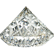 Vintage Waterford Lismore Diamond Shaped Paperweight