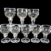 Vintage Thumbprint Crystal Wine or Water Stemware