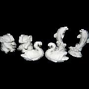Vintage Lenox Animal Figurines- Elephant, Swan and Dolphin