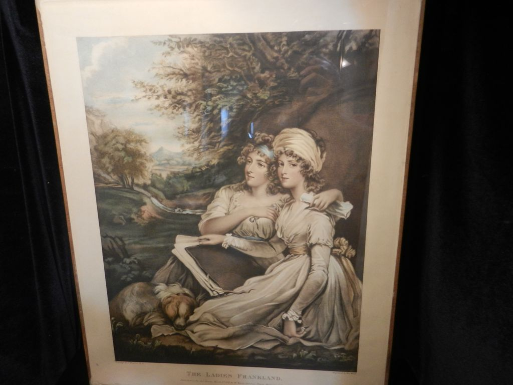 Antique Mezzotint The Ladies Frankland by William Ward-