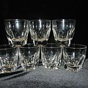 Vintage Crystal Double Shot Glasses