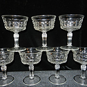 Vintage Constellation Champagne or Sherbet Glasses by Indiana Glass Pattern 300