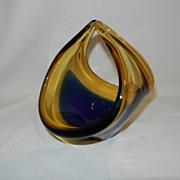 Vintage Art Glass Basket or Bowl