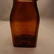 Vintage Embossed Hospital Medicine Bottle