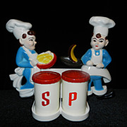 SOLD Vintage Tremax Chef Salt and Pepper Shaker
