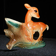 Vintage Royal Copley Deer Planter