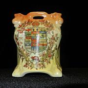Vintage Victoria Austria Porcelain Planter- Dominion of Canada