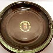 Vintage USS Saratoga Memorabilia- Leather and Glass Ashtray