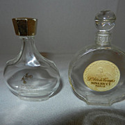 Vintage Lalique Nina Ricci Perfume Bottles