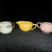 Vintage Creamers- Bauer, LuRay, KPM