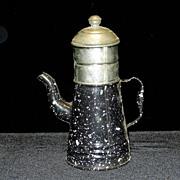 Vintage French Enamelware Coffee Pot- Biggin