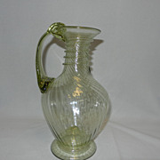 Vintage Hand Blown Art Glass Pitcher