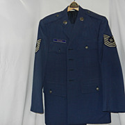 Vintage 1980's Air Force Master Sergeant's Uniform