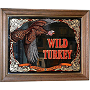 SOLD Vintage Large Wild Turkey Mirror Bar Sign